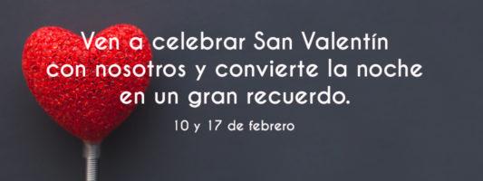 menú San Valentín hotel Felipe II (Ayna)